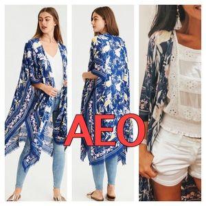 NWT American Eagle | Floral Blue Kimono